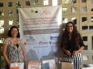 Sônia Pessoa (Tudo Bem Ser Diferente) e Mônica Pereira dos Santos (Professora Doutora, Fundadora e Coordenadora do LaPEADE)