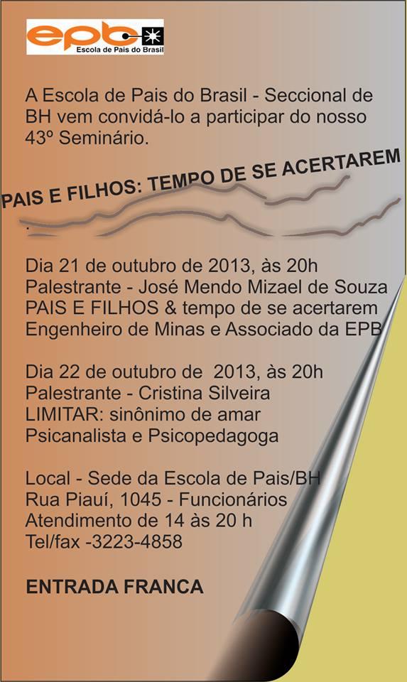 PALESTRA ESCOLA DE PAIS