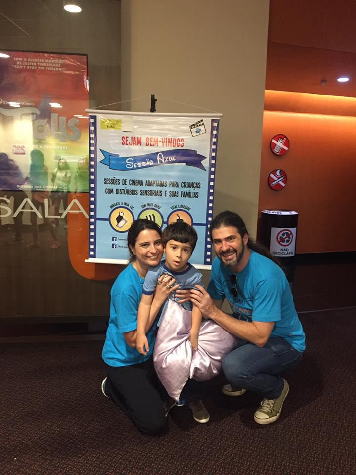 Sessão Azul: Leonardo com os pais